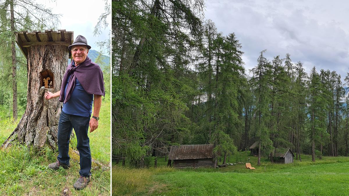 Toni Riser und seine Lärchwiesen (rechts)